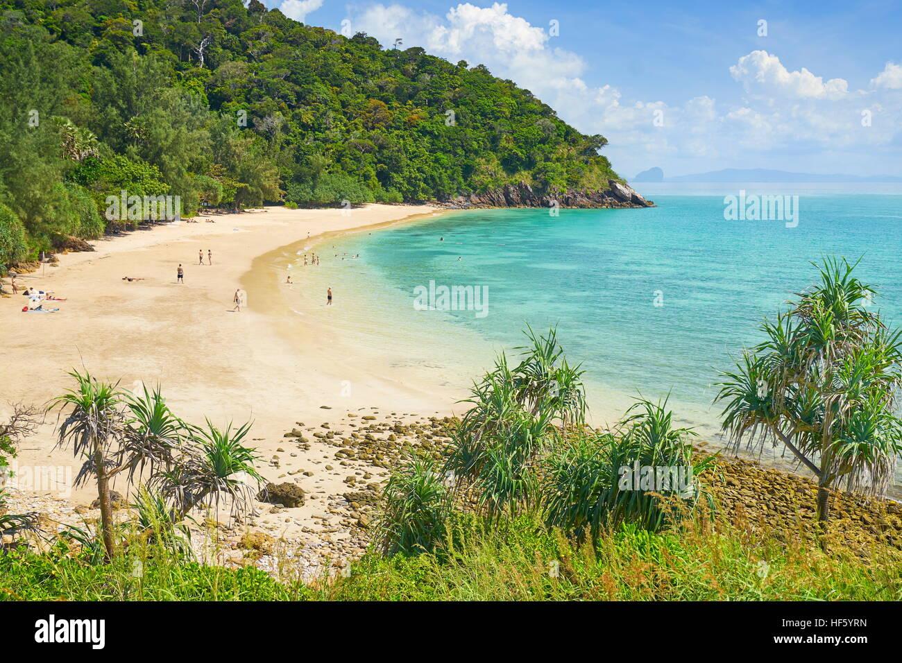 Beach at Ko Lanta National Park, Thailand - Stock Image