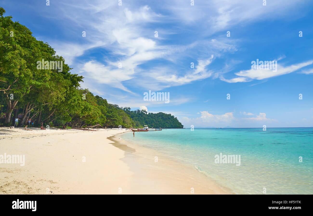 Beach of Koh Rok Island, Thailand - Stock Image