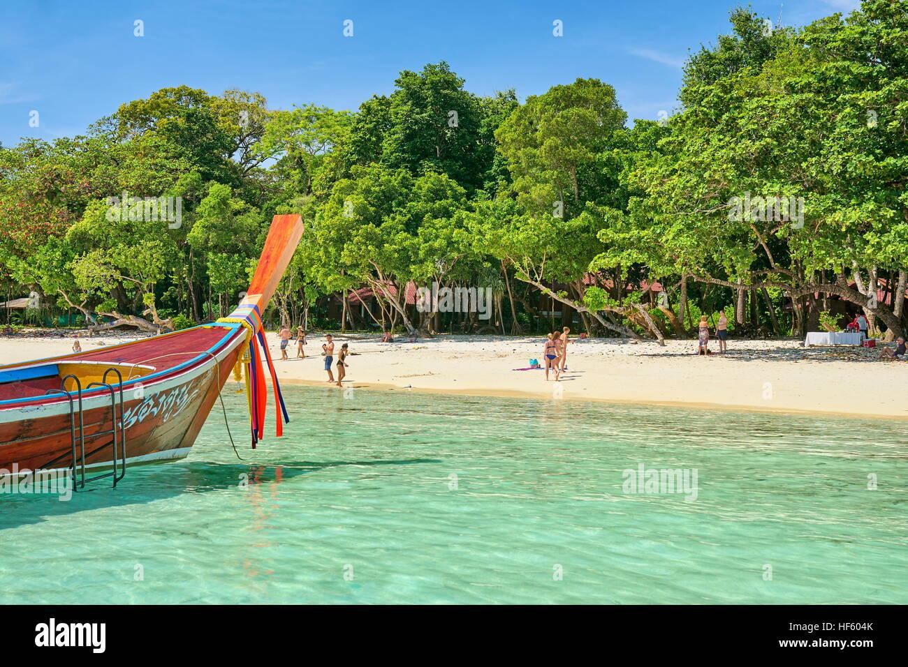 Beach at Bu Bu Island, Krabi Province, Thailand - Stock Image
