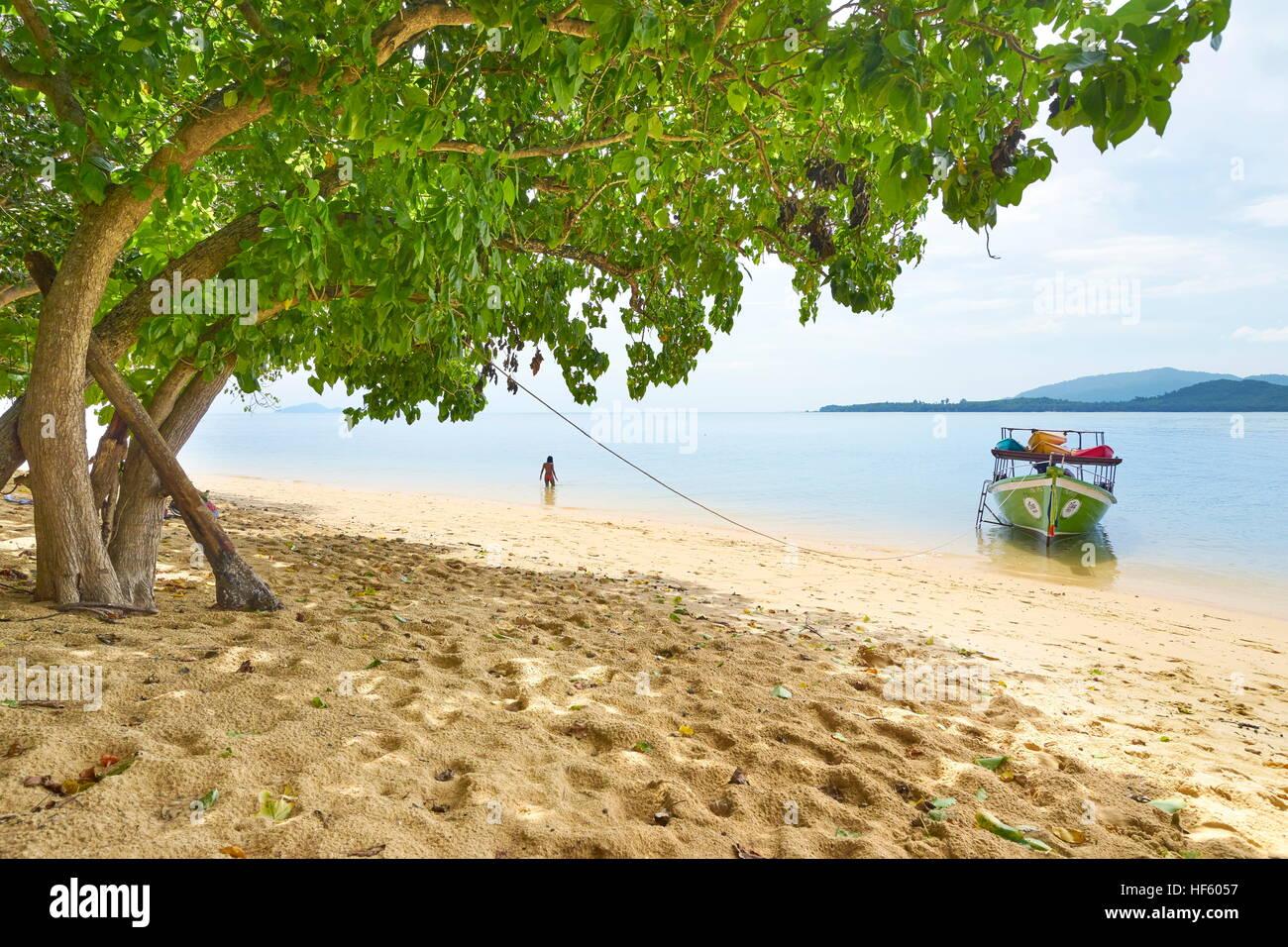 Sandy Beach at Bu Bu Island, Krabi Province, Thailand - Stock Image