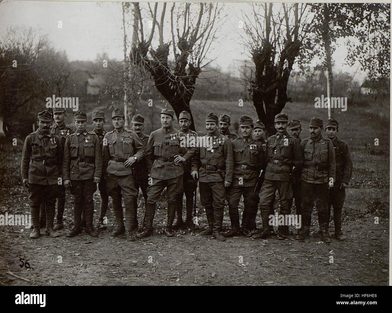 Gruppe von dkorierten Offizieren und Mannschaften einer Kompanie vom Infanterieregiment 54 15654656) - Stock Image