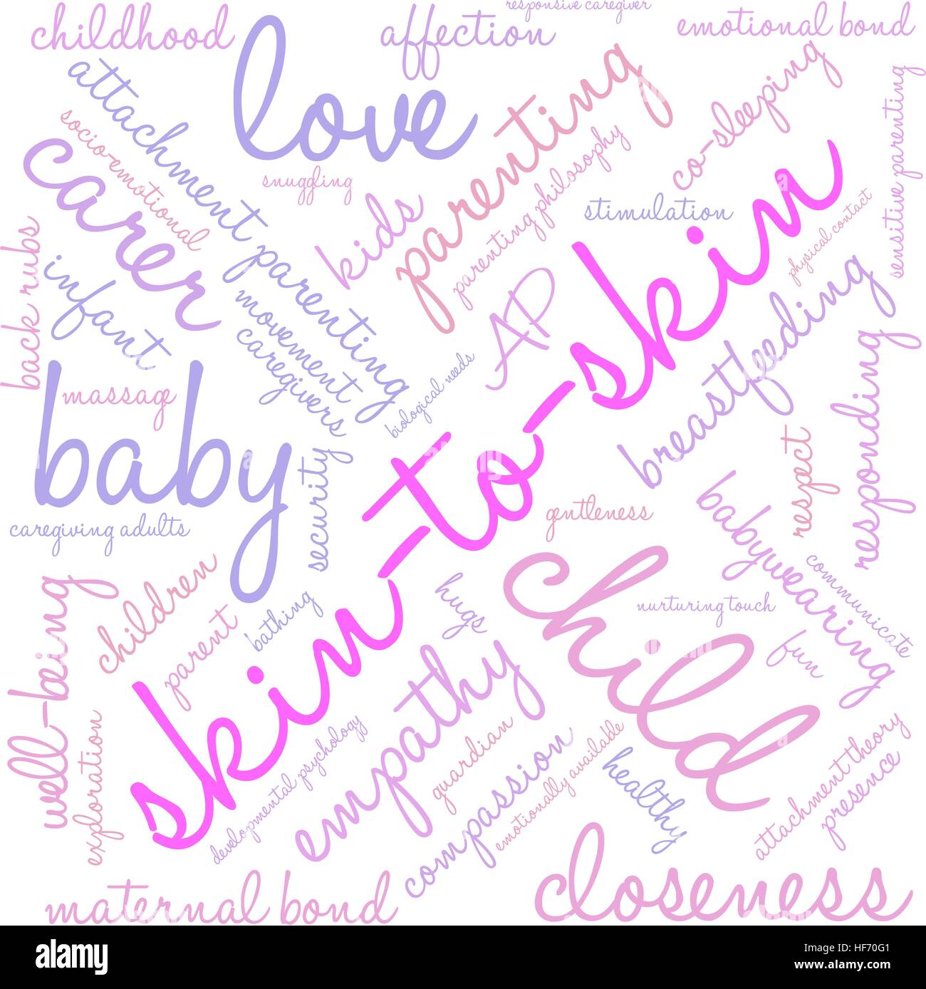 Skin-To-Skin word cloud on a white background. - Stock Image