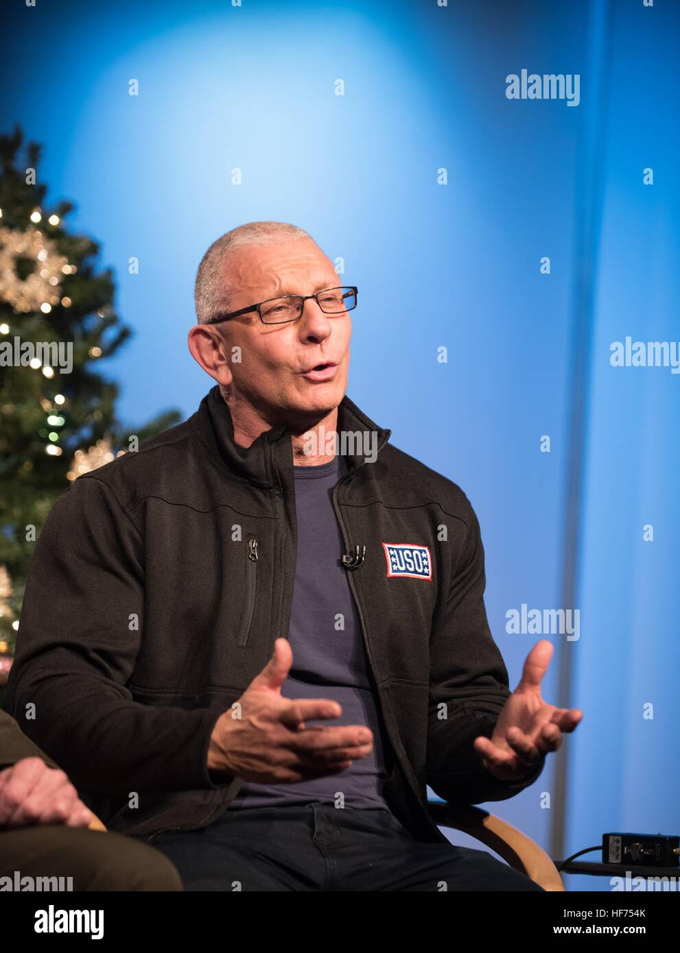 Celebrity Chef Robert Irvine speaks about his upcoming USO Tour to the Middle East to visit U.S. troops during a - Stock Image