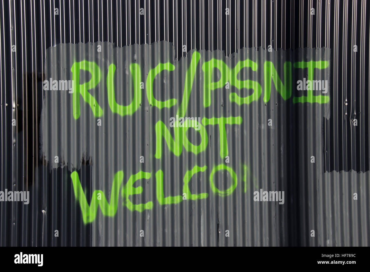 RUC PSI not welcome. - Stock Image