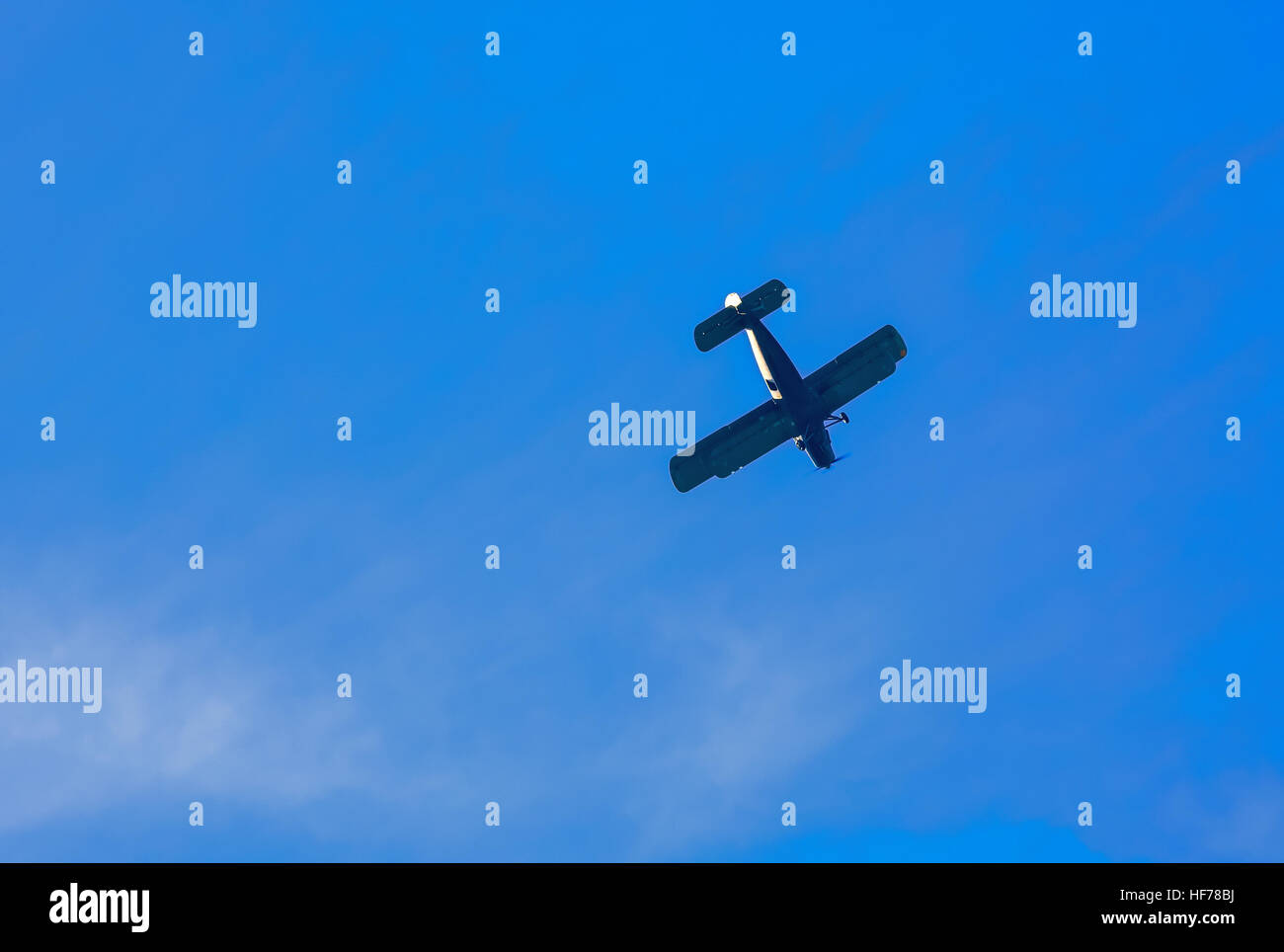Old civil plane AN2 airplane - Stock Image