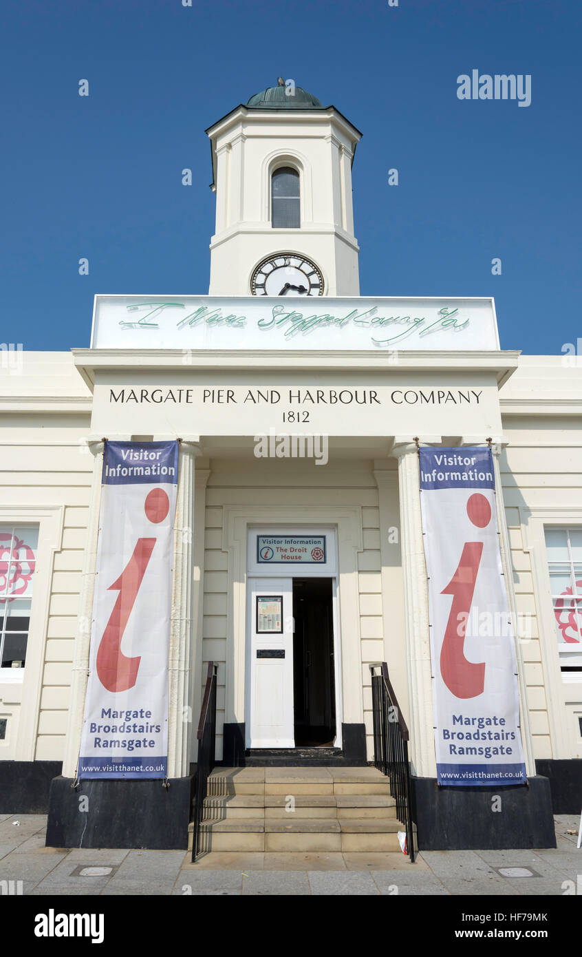 The Thanet Visitor Information Centre, The Droit House, The Pier, Margate, Kent, England, United Kingdom - Stock Image