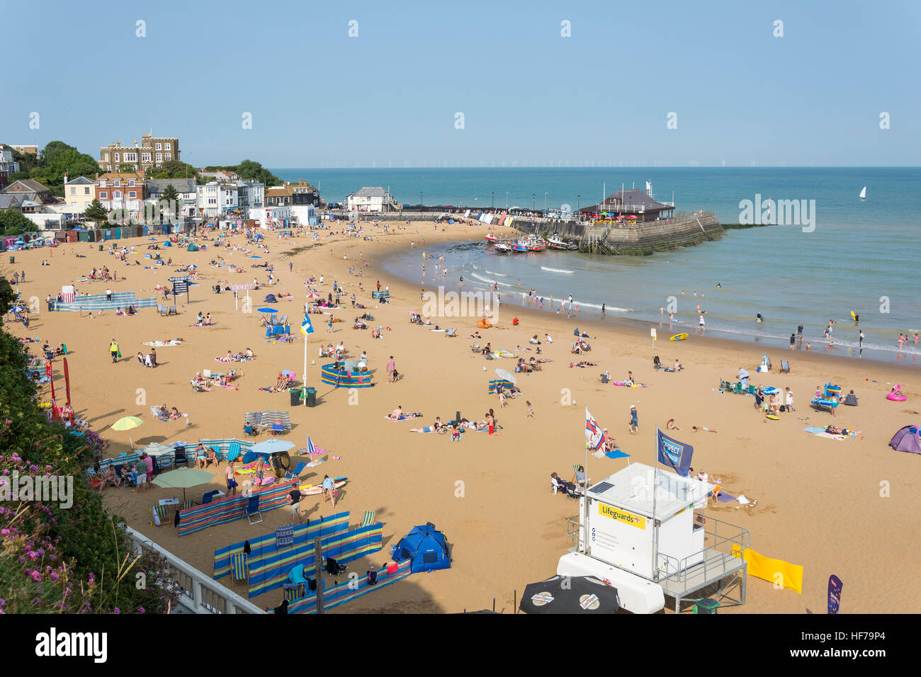 Viking Bay Beach, Broadstairs, Isle of Thanet, Thanet District, Kent, England, United Kingdom - Stock Image