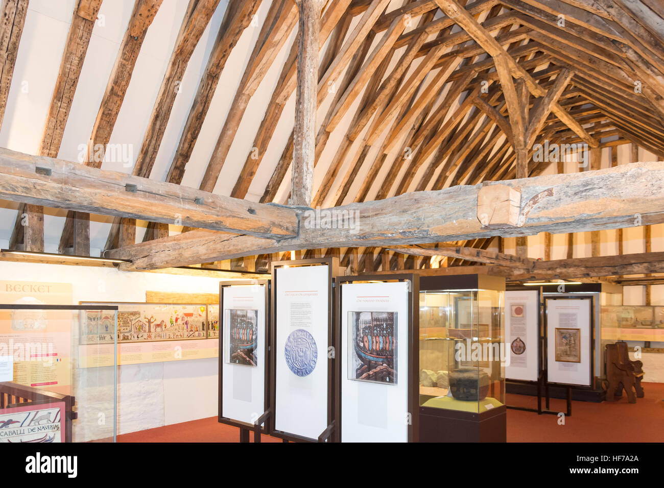 Norman Collection at Canterbury Heritage Museum, Stour Street, Canterbury, City of Canterbury, Kent, England, United - Stock Image