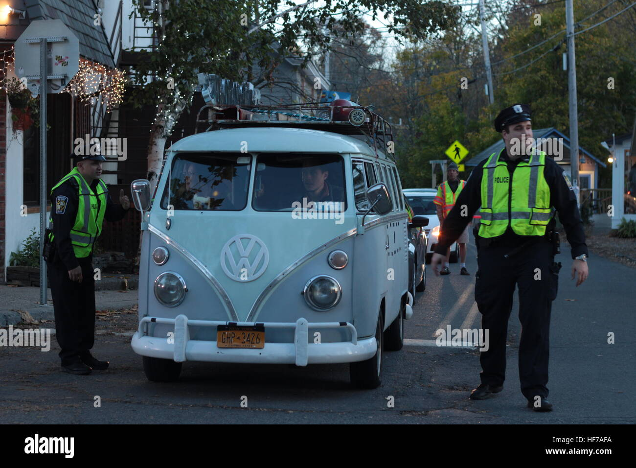 1966 VW bus in Woodstock NY - Stock Image