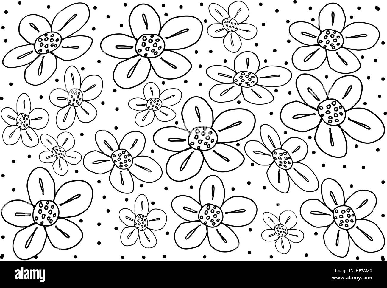 Thai Pattern Illustration Of Beautiful White Vintage Texture Wallpaper Background With Black Flower For Add Content Or Picture