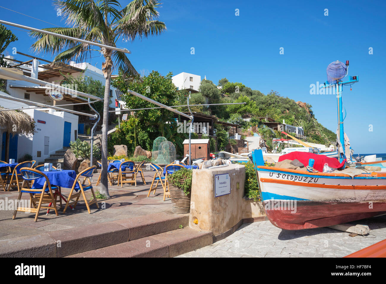 Panarea, Aeolian Islands, Sicily, Italy, Europe, - Stock Image