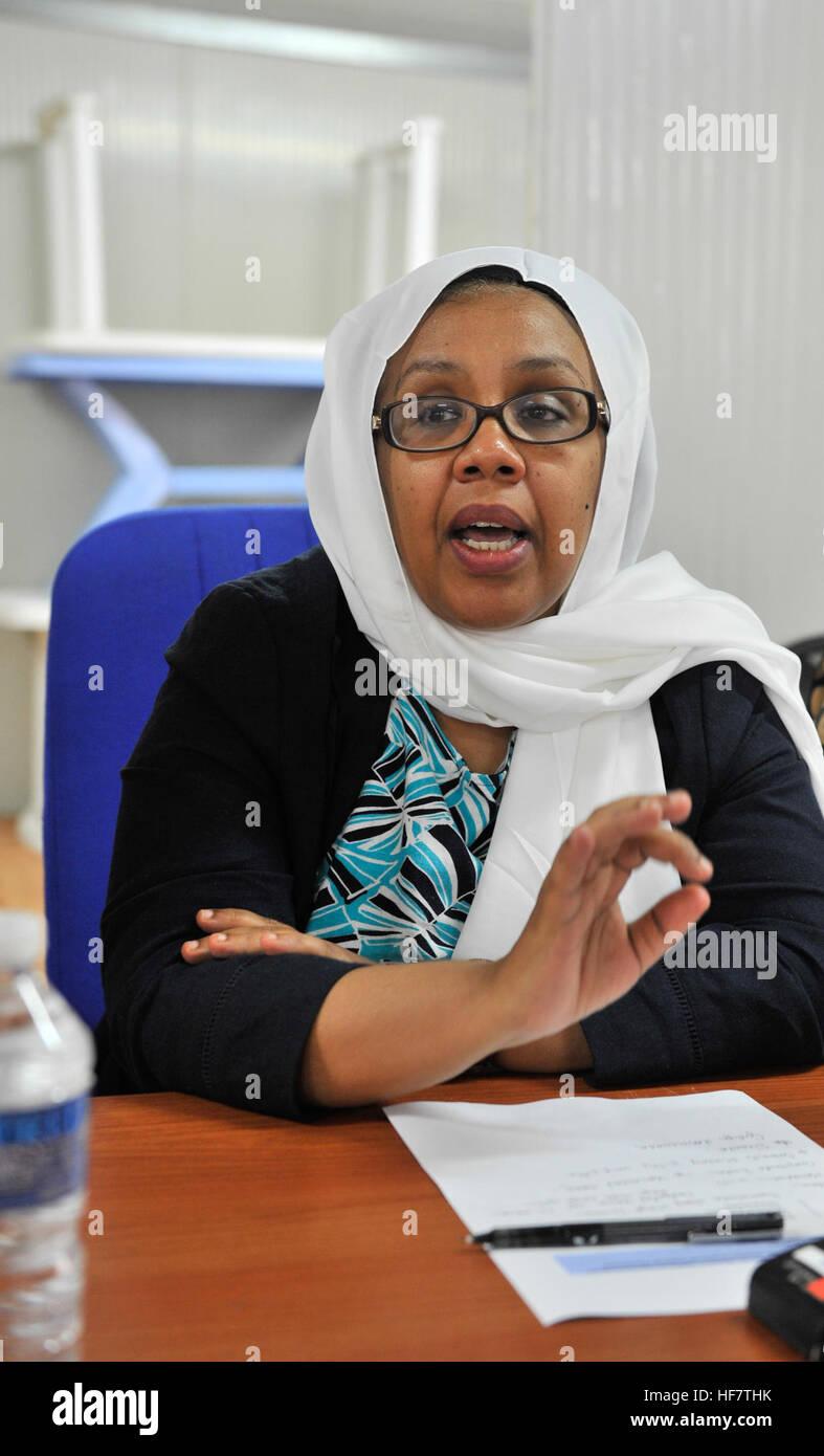 ZAHRA MOHAMED ALI SAMATAR - MINISTER FOR WOMEN AND HUMAN RIGHTS, SOMALIA    I am very happy to see women lobbying - Stock Image
