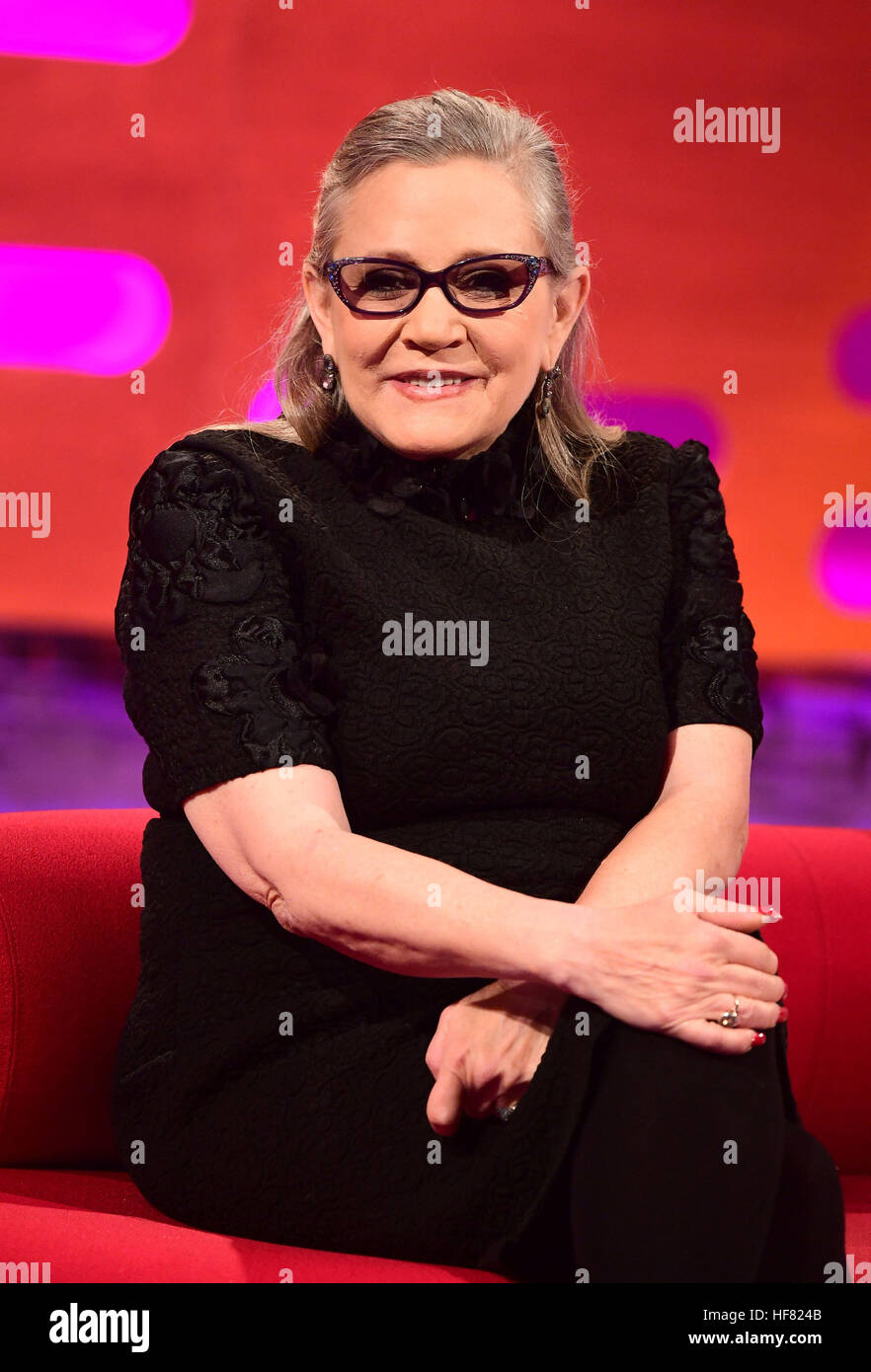 File photo dated 07/12/16 of Carrie Fisher, who has died at age 60, her daughter's publicist said. - Stock Image
