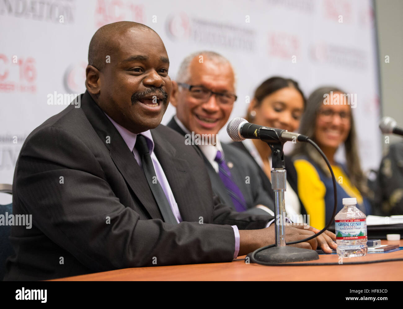 """Rudy Horne, math associate professor, Morehouse College, participates in a panel discussion on """"Women in - Stock Image"""