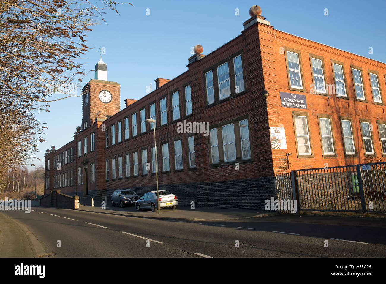 Chesterfield,UK,Blue Skies over the Clocktower Business Centre in