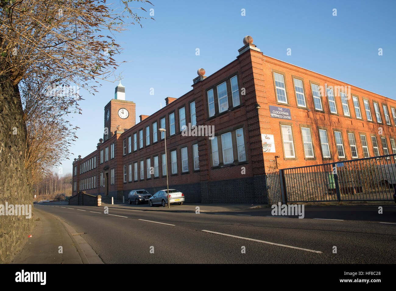 Chesterfield,UK,Blue Skies over the Clocktower Business Centre in Chesterfield©Keith Larby/Alamy Live News - Stock Image