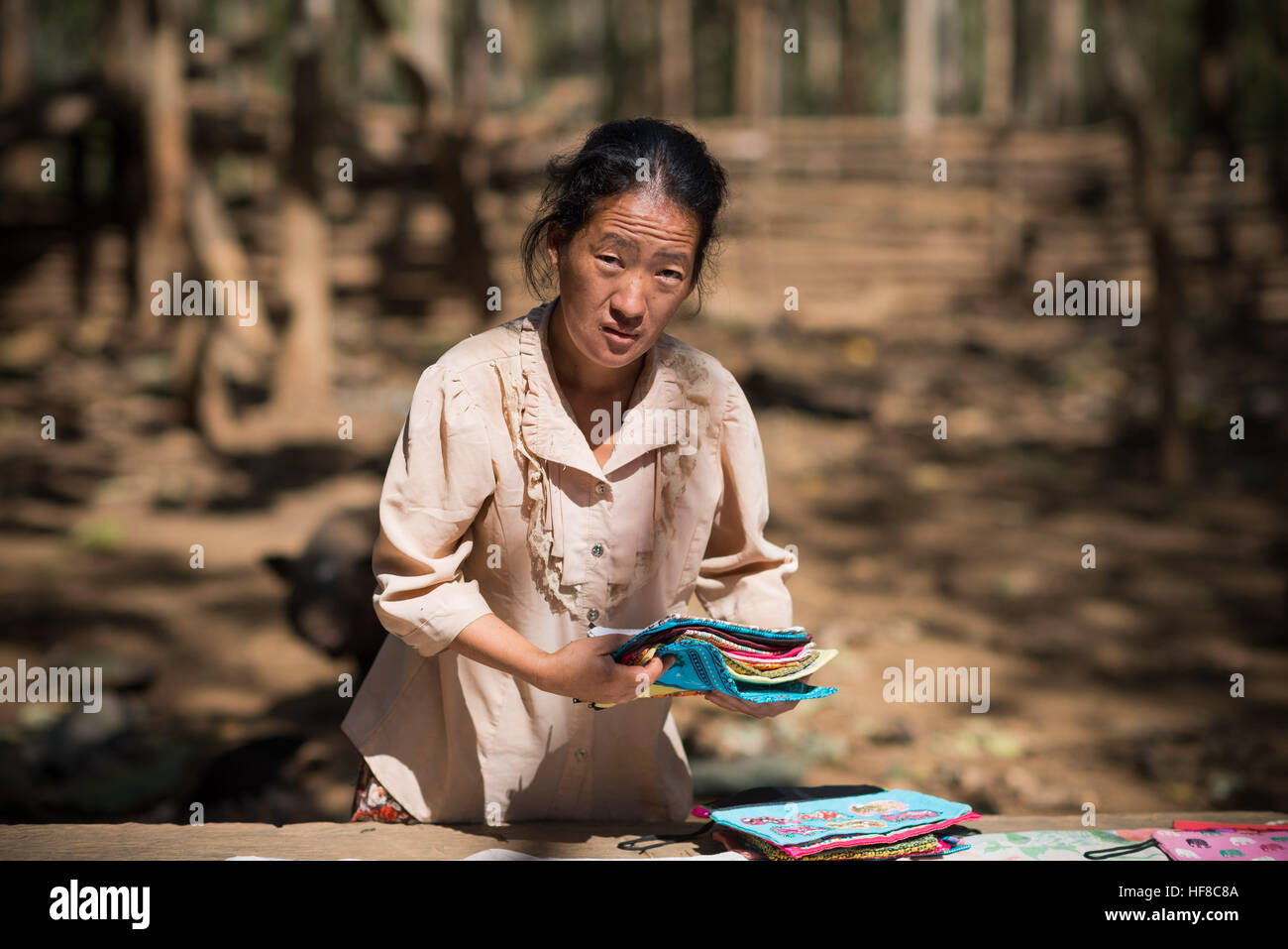 Ban Nongphou, Laos. 28th Dec, 2016. The Hmong are an ethnic group from the mountainous regions of China, Myanmar, Stock Photo