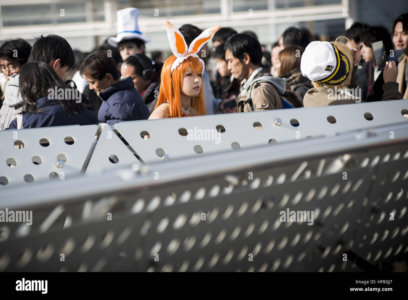 Tokyo, Tokyo, Japan. 29th Dec, 2016. Cosplayer take the time during the Comic Market 91 (Comiket) event in Tokyo - Stock Image