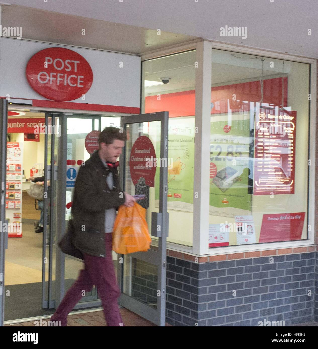 19th December 2016: Reading, UK - Reading Post Office open despite a strike by CWU workers at Crown Post Offices. - Stock Image