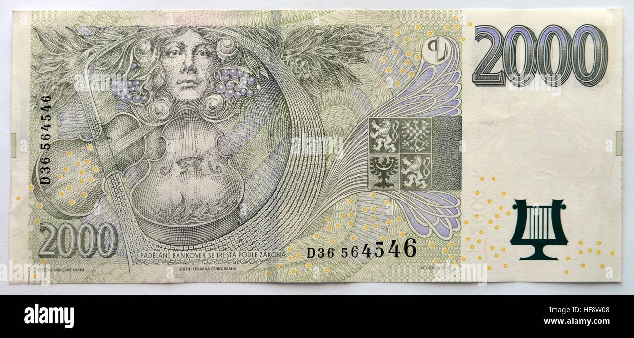 Geld, Tschechien, Money, Czechia - Stock Image