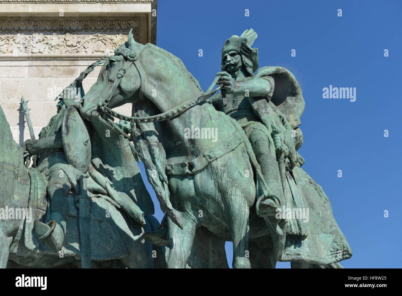 Milleniumsdenkmal, Heldenplatz, Budapest, Ungarn, heroic place, Hungary - Stock Image