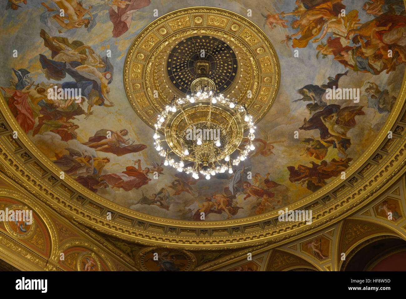 Decke, Innenraum, Staatsoper, Andrassy ut, Budapest, Ungarn, Cover, interior, state opera, Hungary - Stock Image