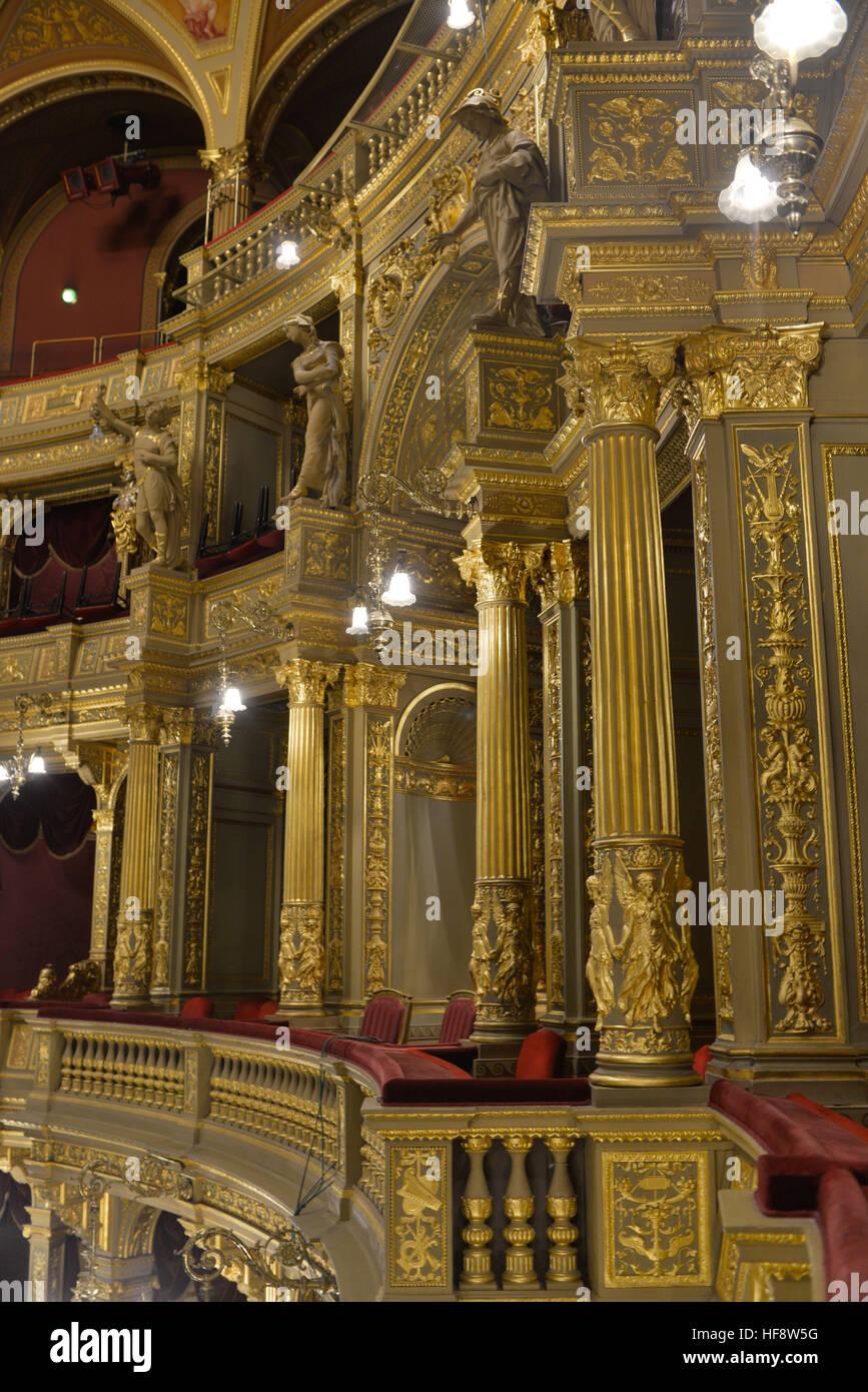Kaiserloge, Staatsoper, Andrassy ut, Budapest, Ungarn, Imperial box, state opera, Hungary - Stock Image
