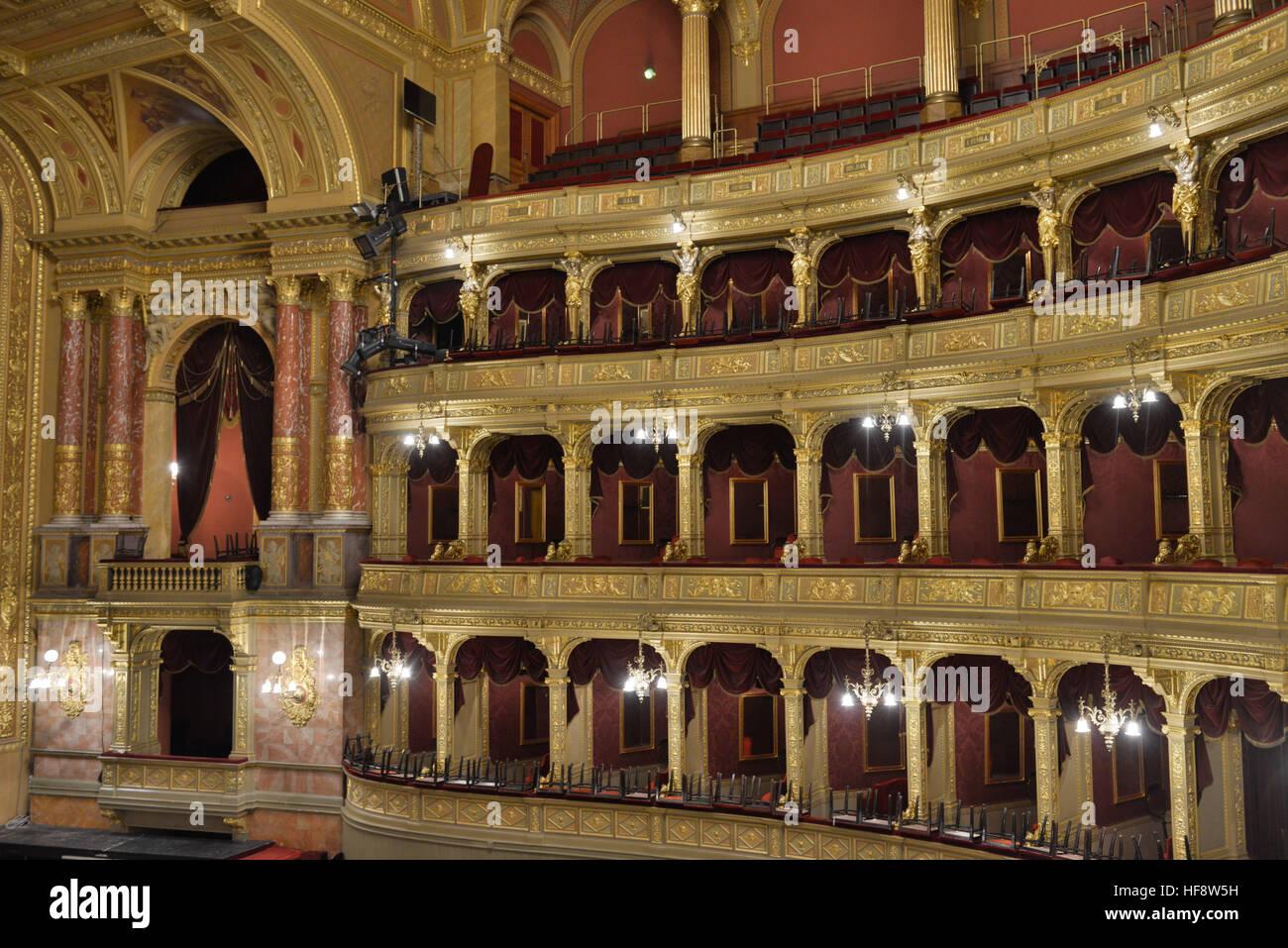 Innenraum, Staatsoper, Andrassy ut, Budapest, Ungarn, Interior, state opera, Hungary - Stock Image