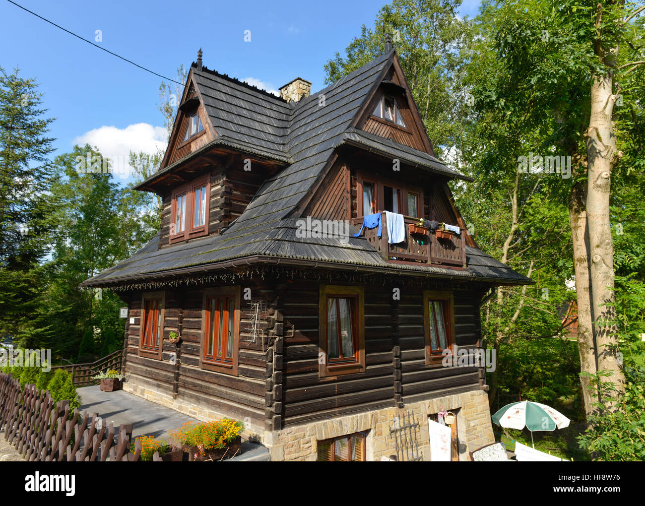 Traditionelles Holzhaus, Strazyska, Zakopane, Polen, Traditional timber house, Poland - Stock Image