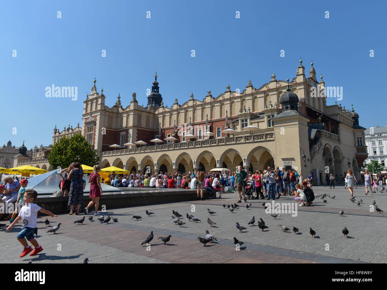 Tuchhallen, Hauptmarkt, Krakau, Polen, Cloth halls, central market, Cracow, Pole Stock Photo