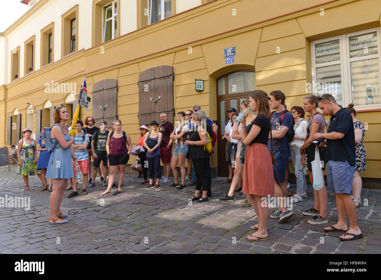 Stadtfuehrung, Free Walking Tour, Kazimierz, Krakau, Polen, Town guidance, Free Walking tour, Cracow, Poland - Stock Image