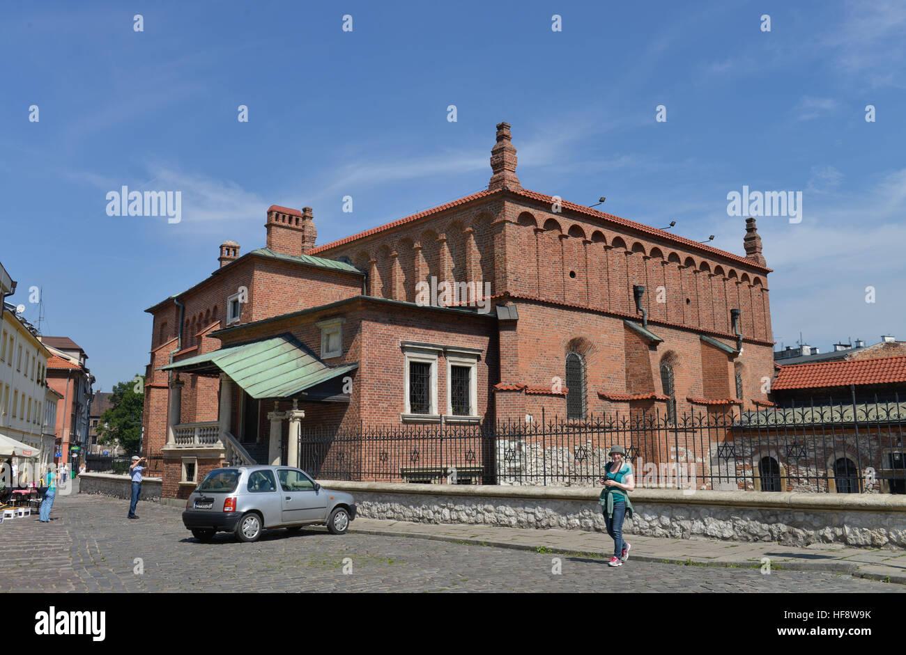 Alte Synagoge, Szeroka, Krakau, Polen, Old synagogue, Cracow, Poland - Stock Image