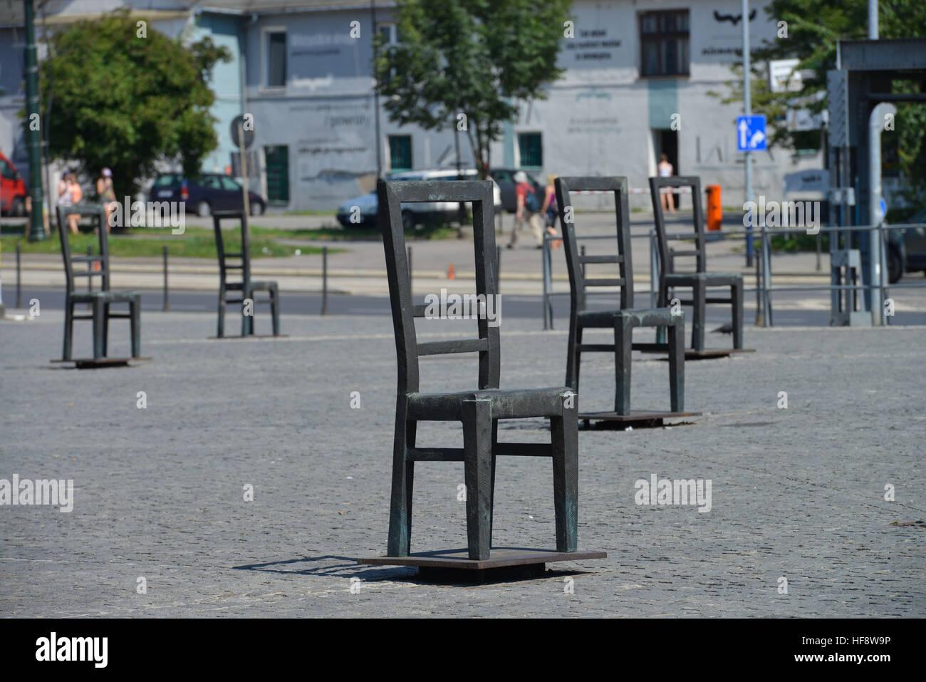 Mahnmal, Platz der Ghettohelden, Krakau, Polen, Memorial, place of the ghetto heroes, Cracow, Poland - Stock Image