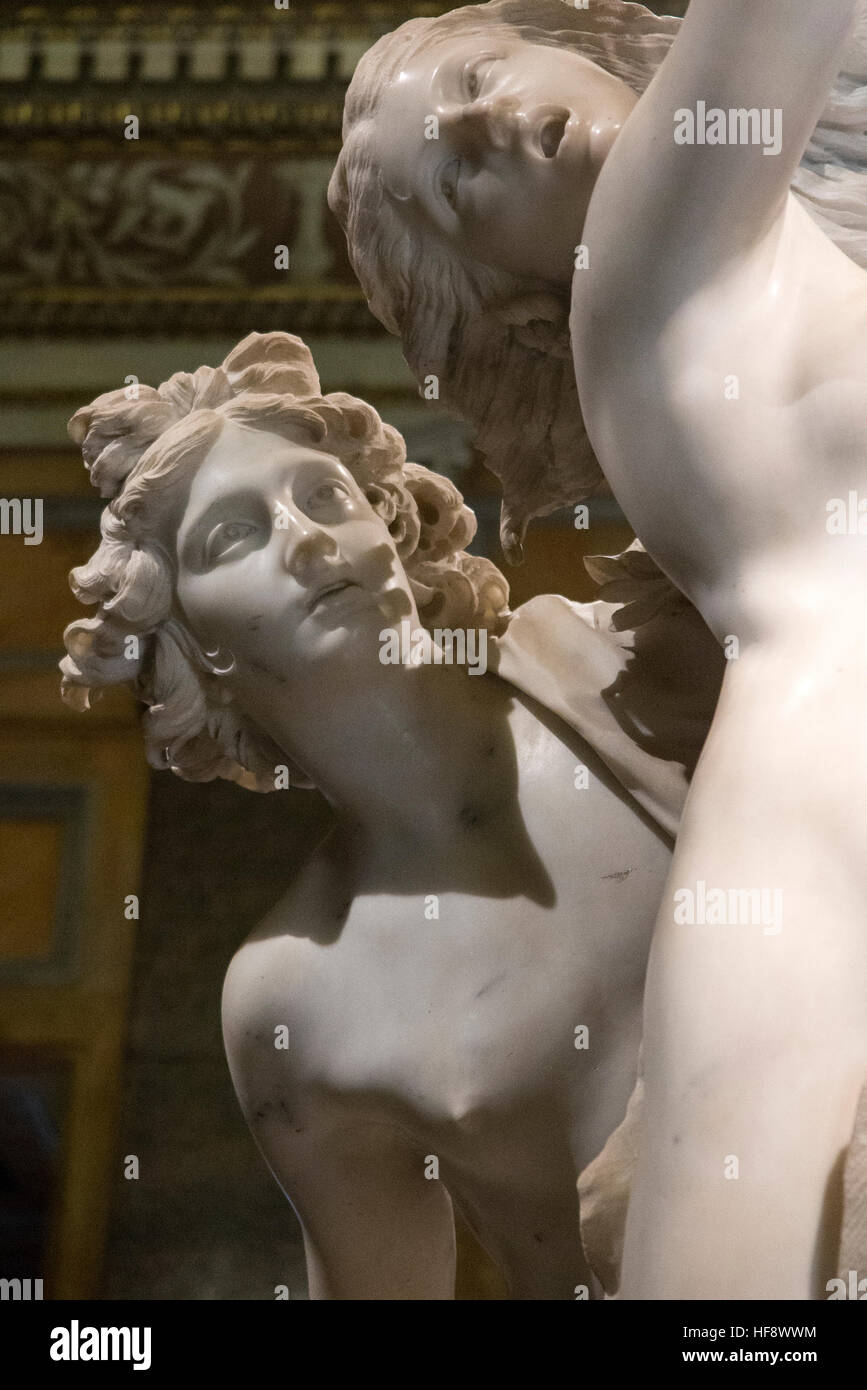 Apollo and Daphne, by Bernini Galleria Borghese, Rome, Italy - Stock Image