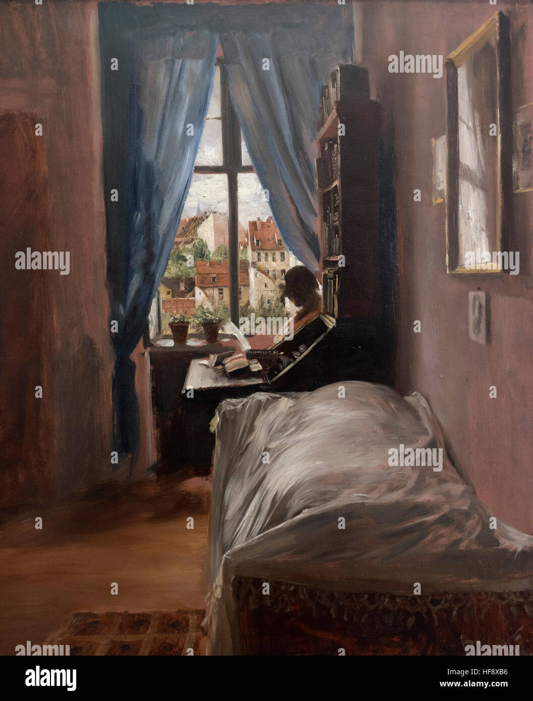 Adolph Menzel (1815 1905), The Bedroom Of The Artist In Ritterstraße,