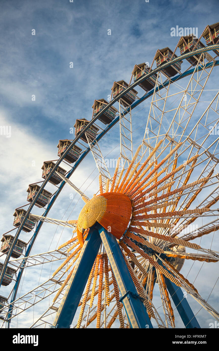 Ferris wheel at the Berlin Christmas markets in Germany - Stock Image