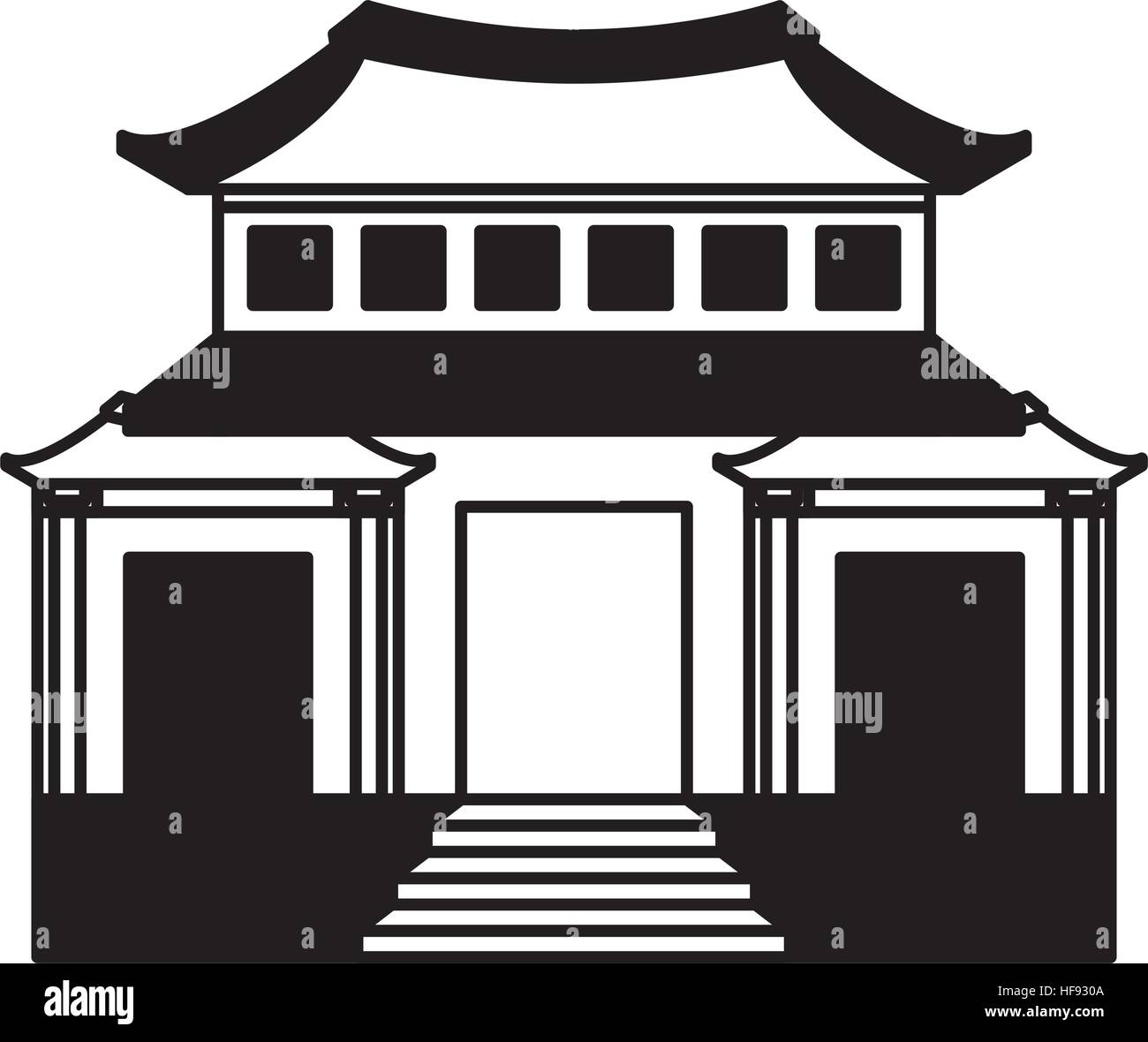 japanese building traditional icon vector illustration design Stock ...