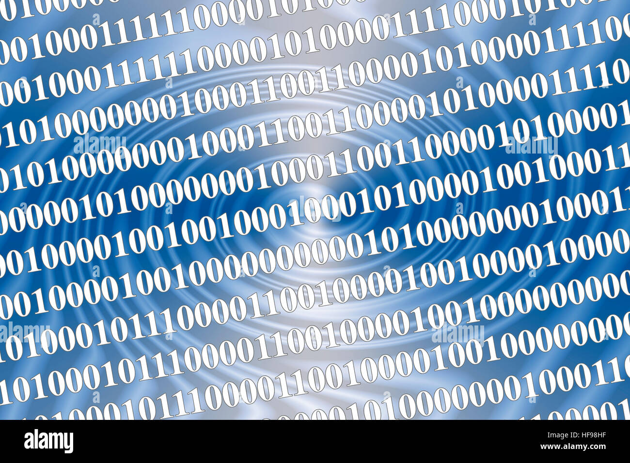 Symbolic picture - binary code and data processing code