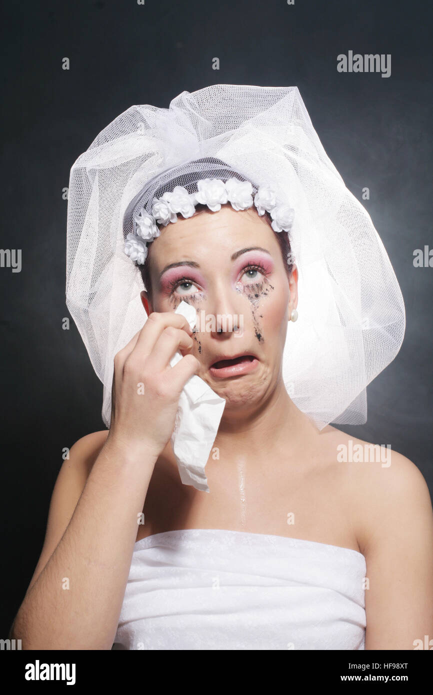 Jilted bride - Stock Image