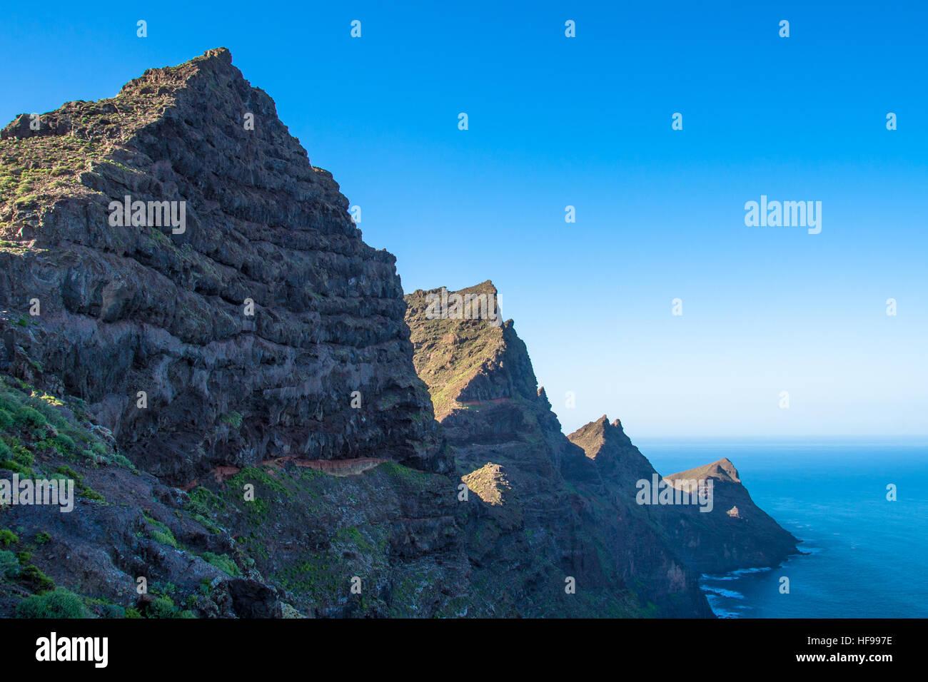 coast with rocks at Gran Canaria, Spain Stock Photo