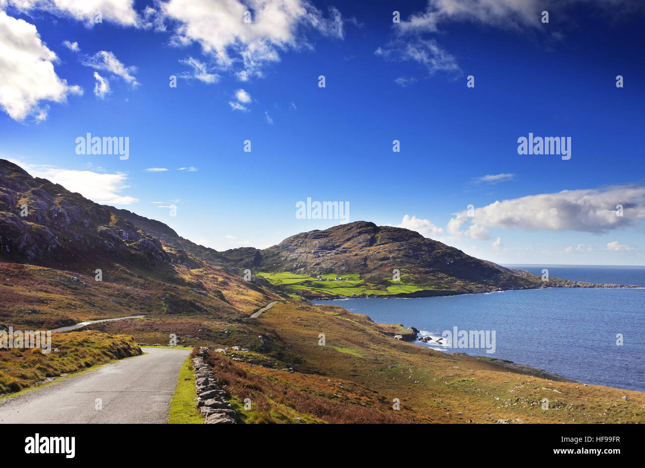 Road, West Coast, Ireland - John Gollop - Stock Image