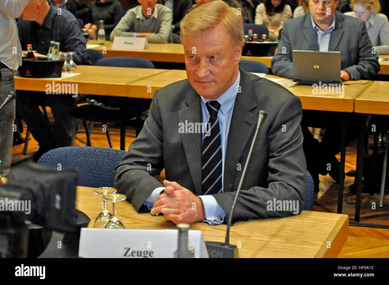 Bürgermeister Ole von Beust (CDU), Untersuchungsausschuss Elbphilharmonie, Hamburg, Deutschland. Editorial - Stock Image