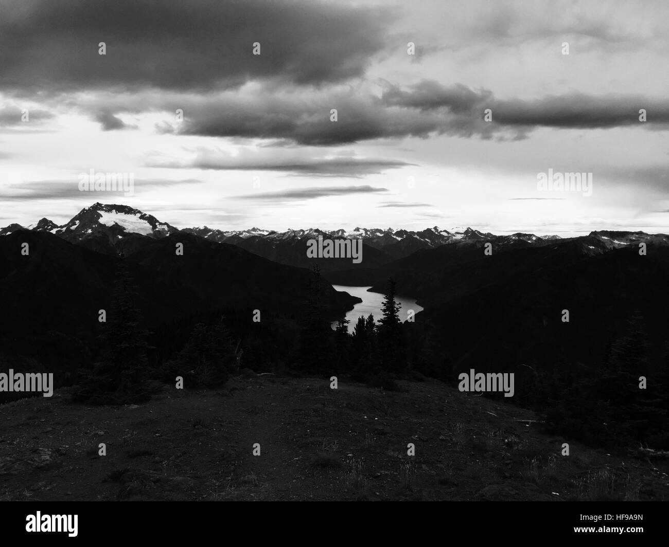 North Cascades National Park, Washington: Ross Lake view from Desolation Peak - Stock Image