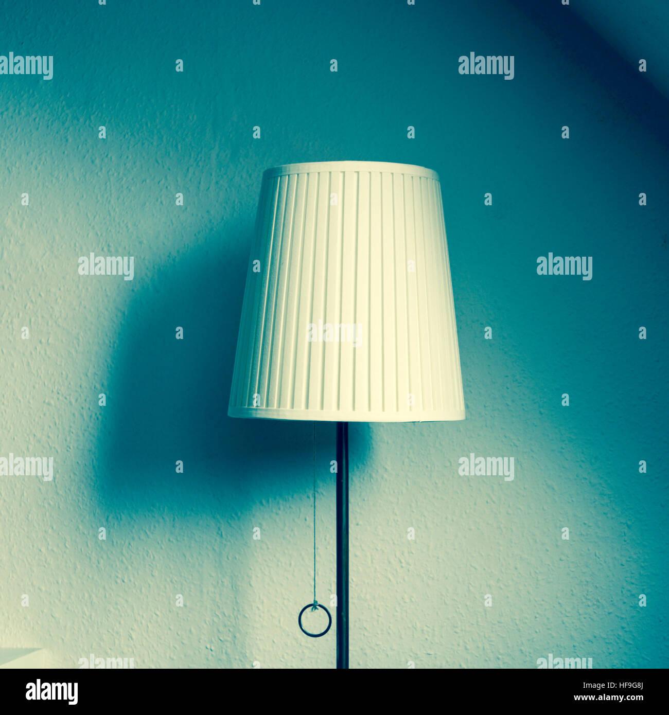 Retro lampshade - Stock Image
