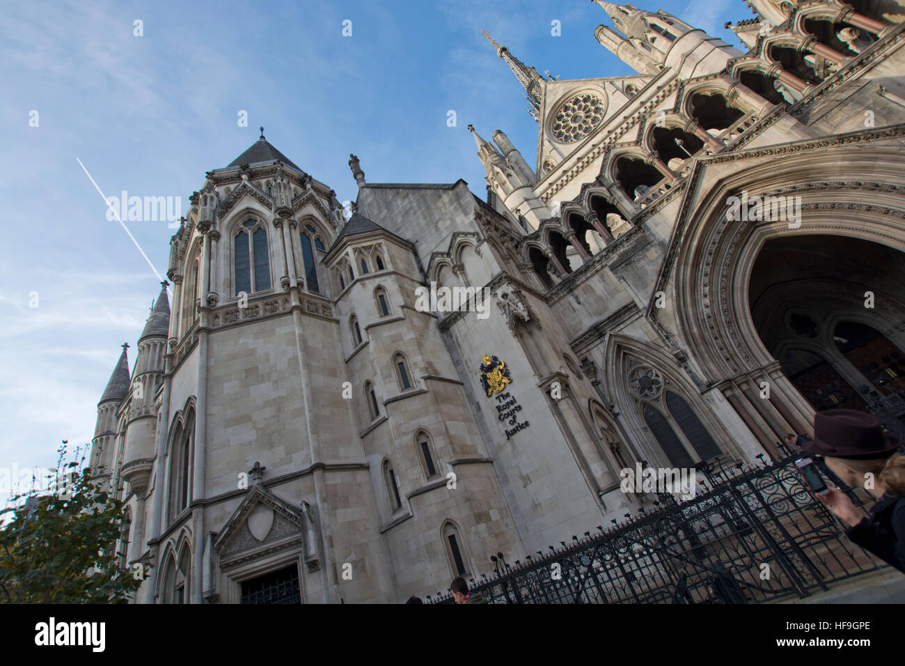 The Royal Courts of Justice in London, England - Stock Image