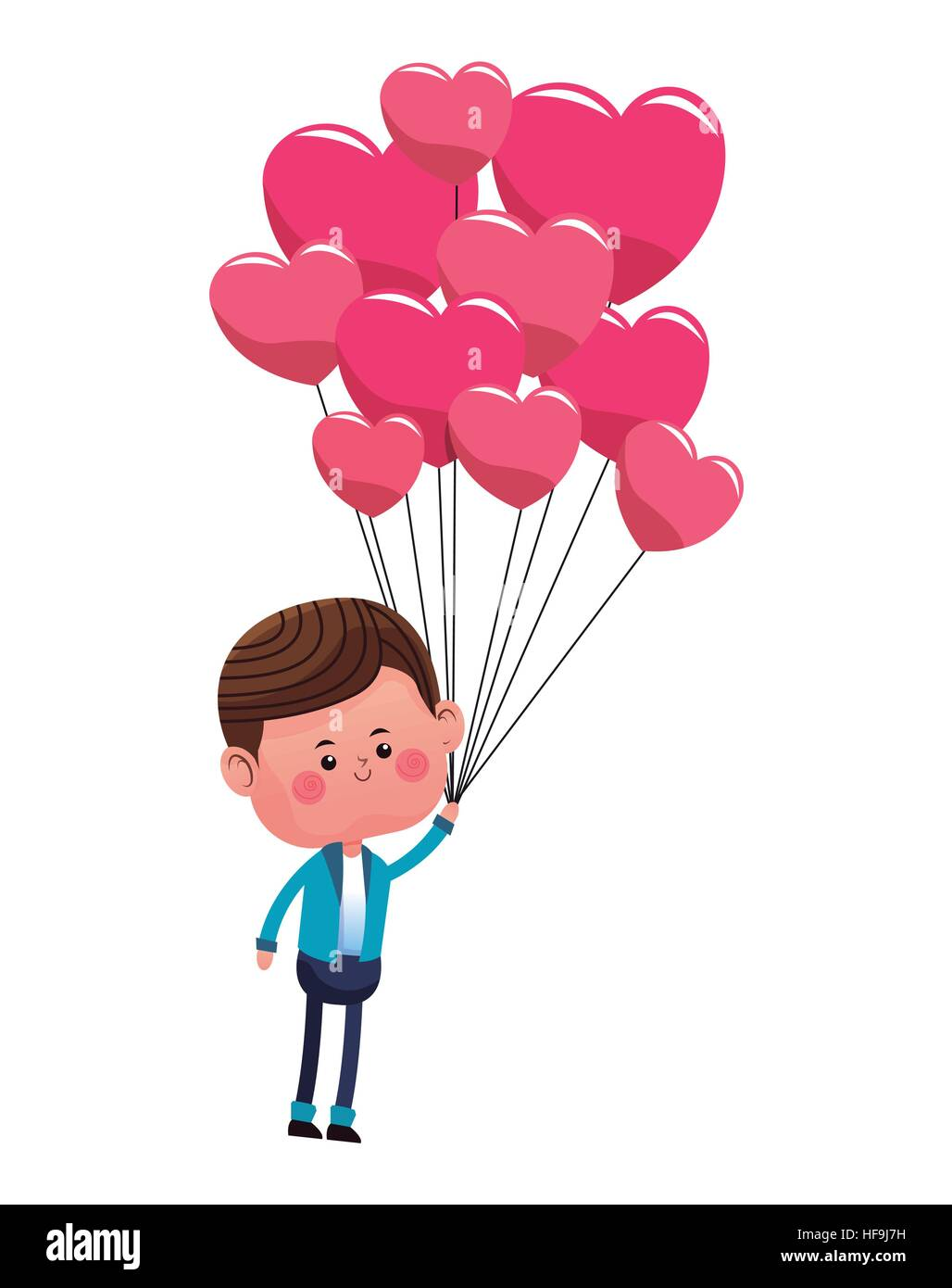 Little Boy Balloon Cut Out Stock Images & Pictures - Alamy