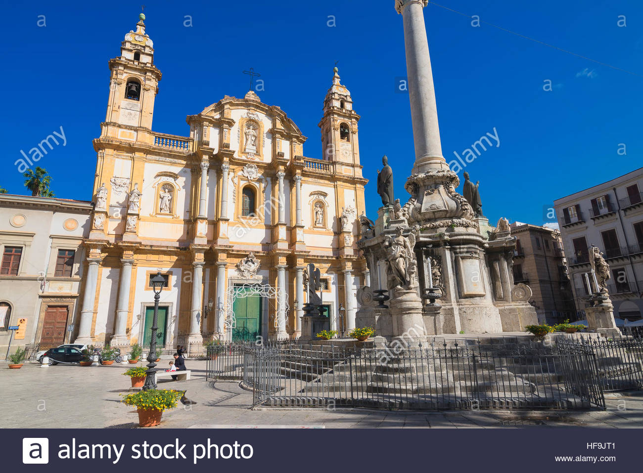 Church of San Domenico, Palermo, Sicily, Italy, Europe, - Stock Image