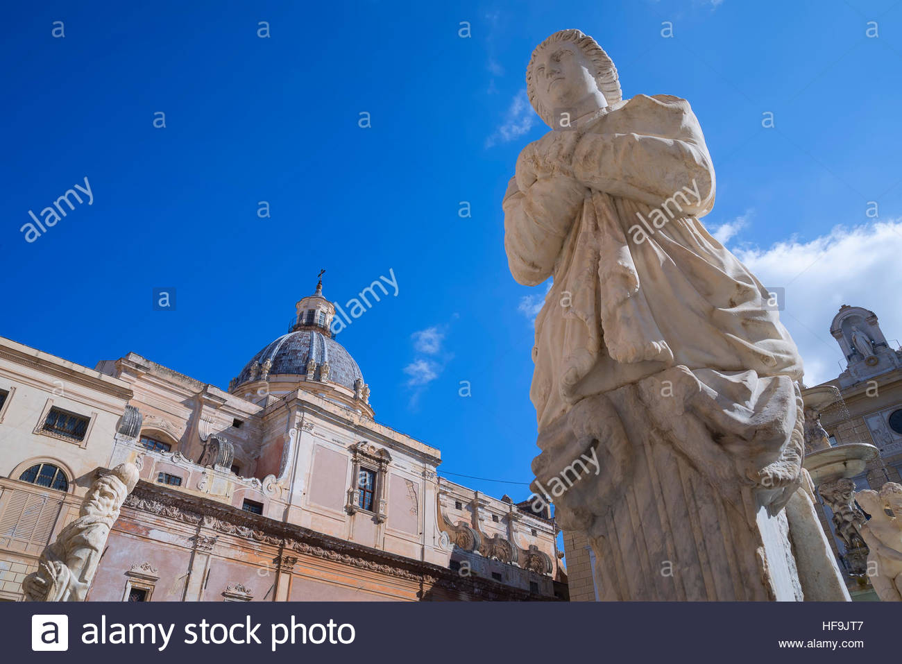 Piazza Pretoria, Palermo, Sicily, Italy, Europe, - Stock Image