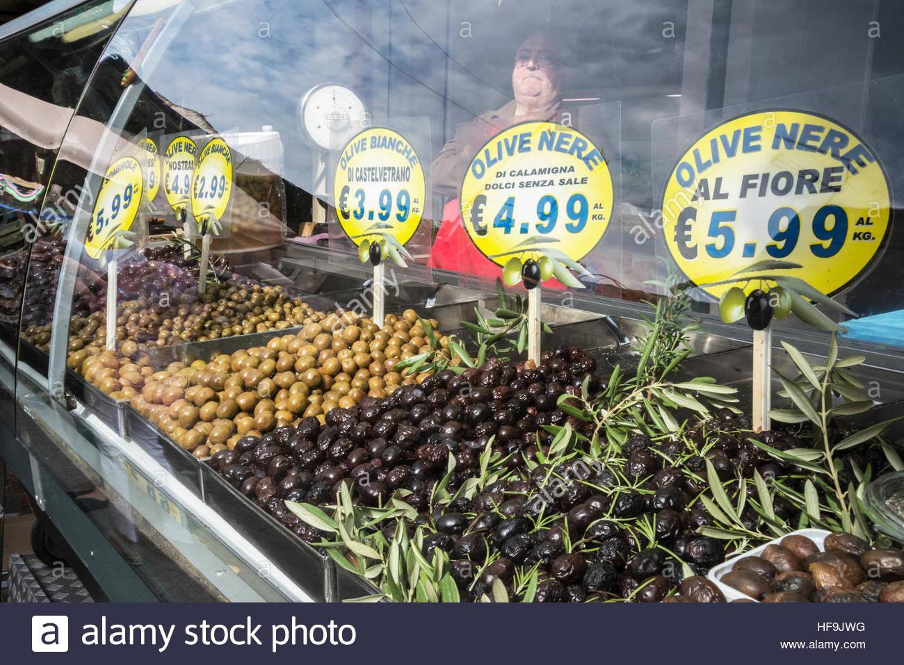 Ballaro market, Palermo, Sicily, Italy, Europe, - Stock Image