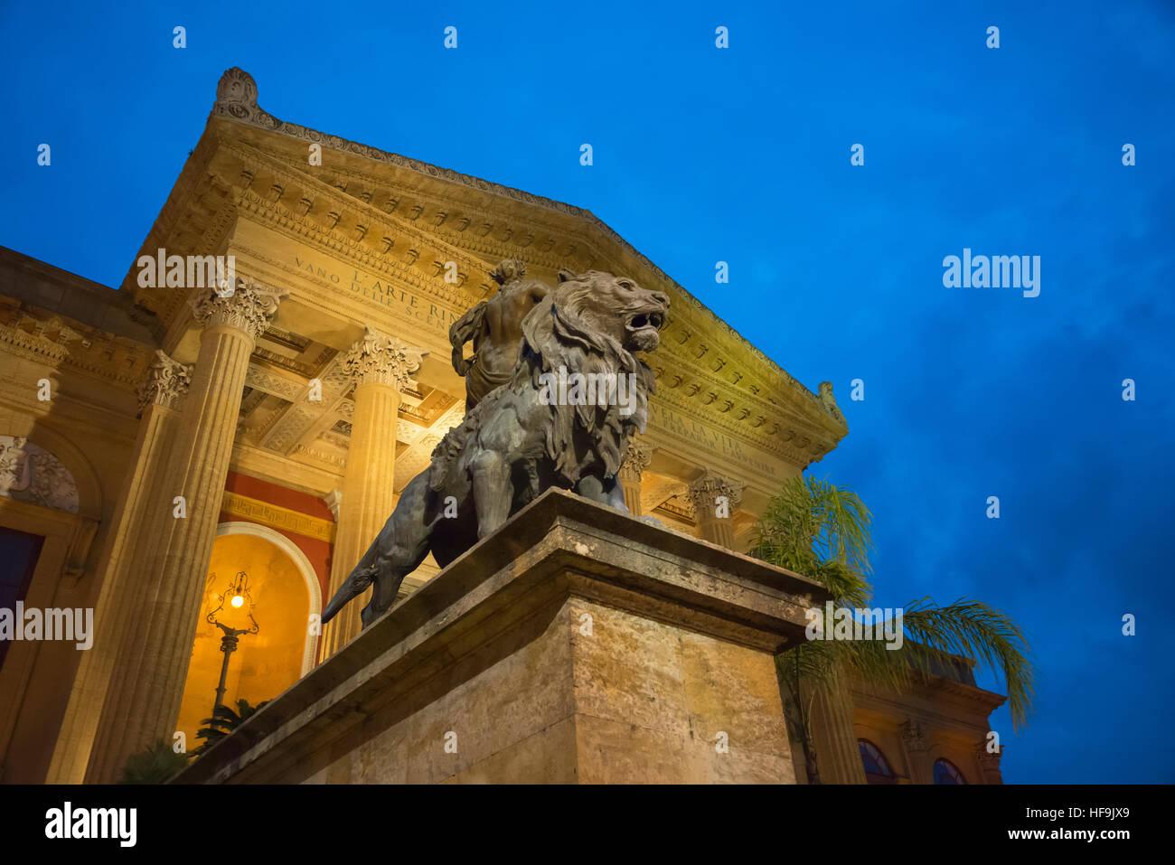 Teatro Massimo, Palermo, Sicily, Italy, Europe - Stock Image